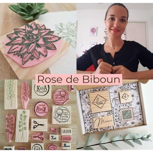 #34 Rose de Biboun, du Droit à la gravure de tampons