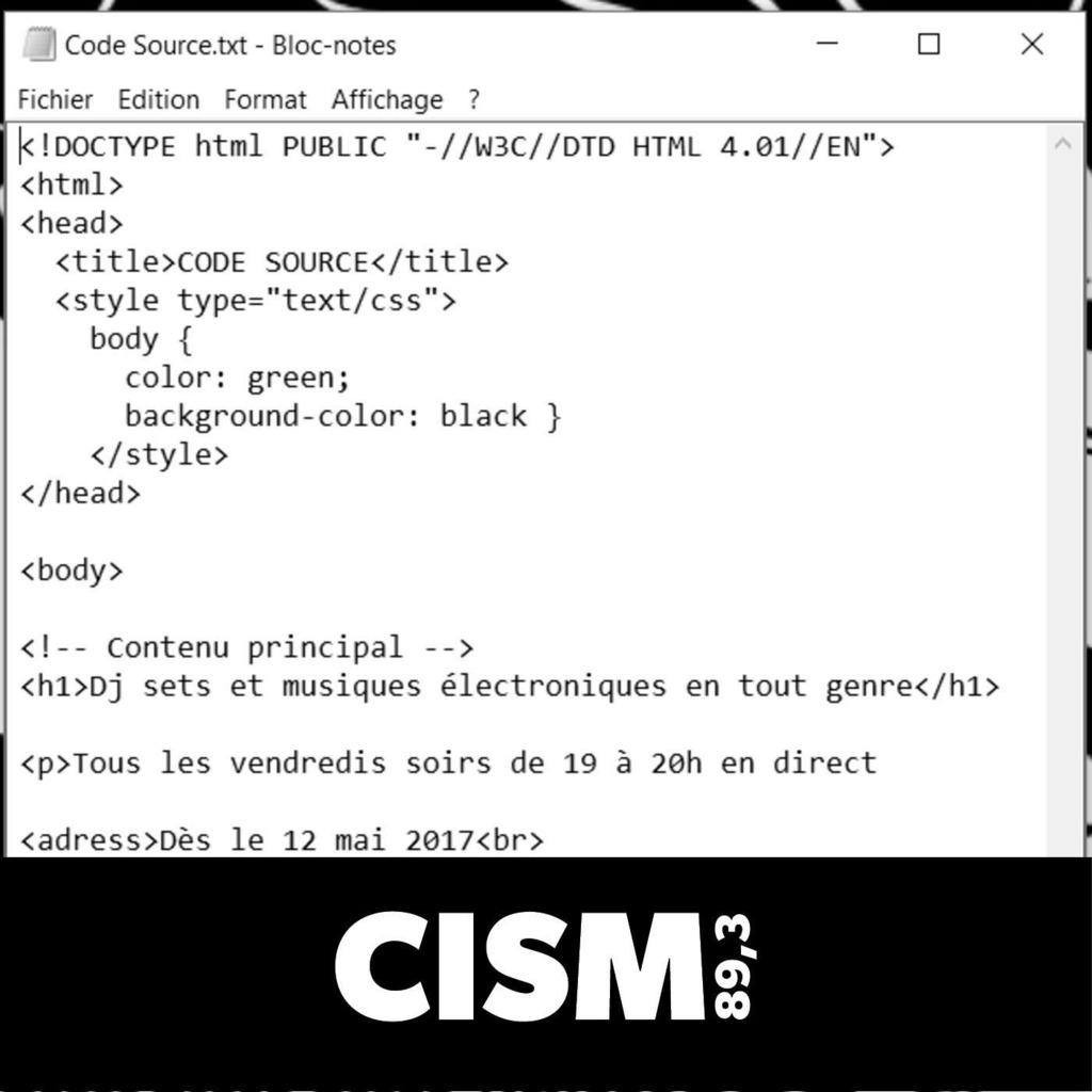 CISM 89.3 : Code Source