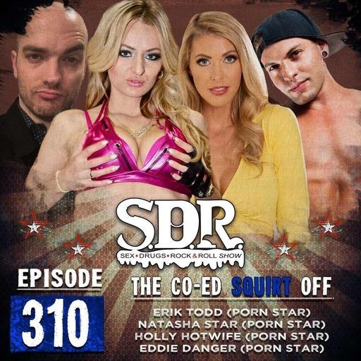 Holly Hotwife, Natasha Starr, Eddie Danger & Erik Todd (Porn Stars) - The Co-Ed Squirt Off