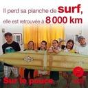 21 septembre 2020 - Il perd sa planche de surf, elle est retrouvée à 8 000 km - Sur le pouce