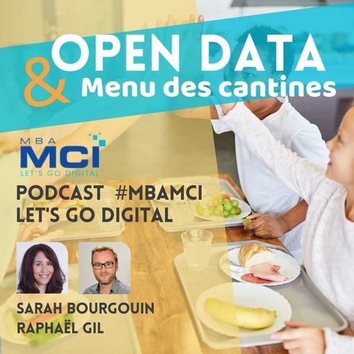 Open data et menu des cantines