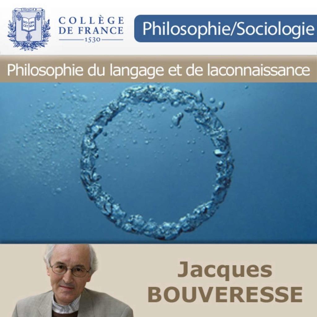Philosophie du langage et de la connaissance - Collège de France