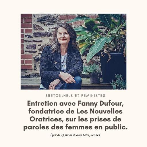 Entretien avec Fanny Dufour, de Les Nouvelles Oratrices