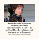 Entretien avec Charlotte Puiseux, militante handiféministe.