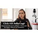 Julia Cagé : Financement des partis politiques,  Démocratie descriptive, Réforme des institutions