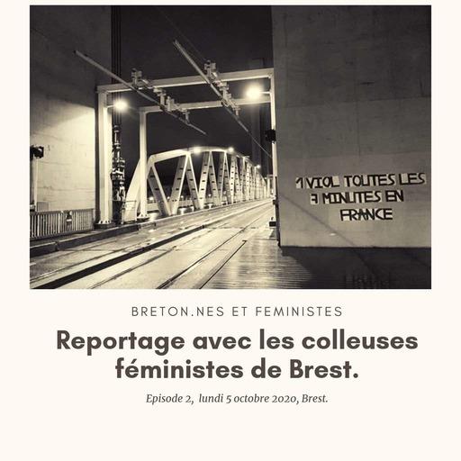 Les colleureuses féministes de Brest.