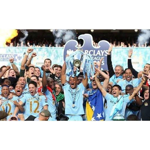 TRANSFER TIME TUNNEL: Manchester City 2012 Premier League Champions - Featuring Aguero, Kompany, Silva & Hart