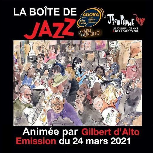 La Boîte de Jazz du 24 mars 2021 - Spéciale Spéciale Vocaux et instrumentaux