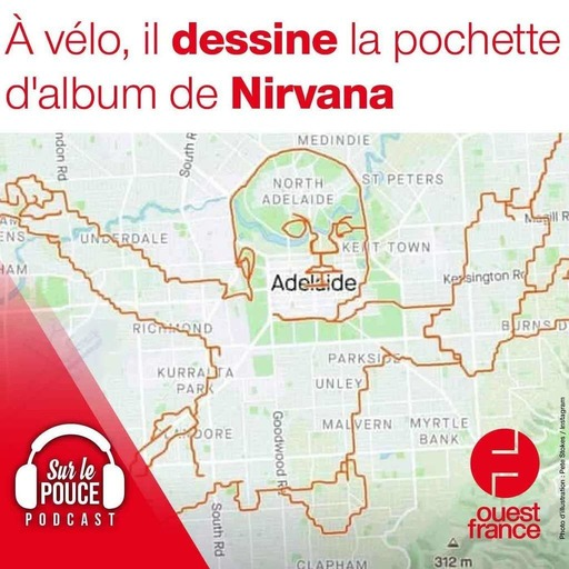27 Septembre 2021 - À vélo, il dessine la pochette d'album de Nirvana - Sur le pouce