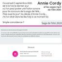 Anny Cordie et les sagas mp3 de l'été 2020