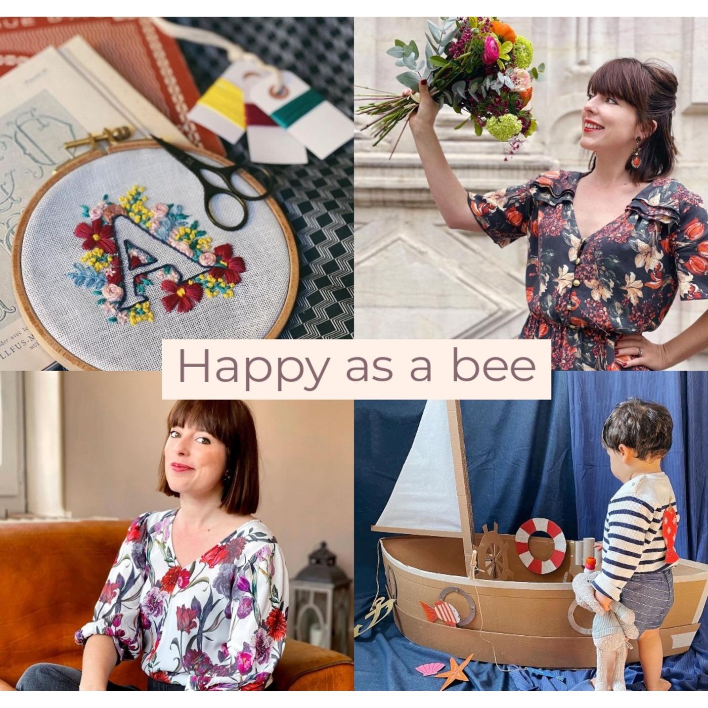 #51 Happy as a bee, crafting girl épanouie