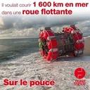 29 juillet 2021 - Il voulait courir 1600 kilomètres en mer dans une roue flottante - Sur le pouce